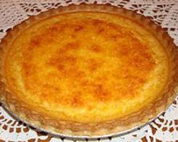 Nutmeg and buttermilk pie.