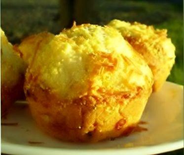 Cornbread and cheddar muffins.